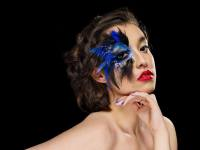 Artistic Feather Makeup Shots